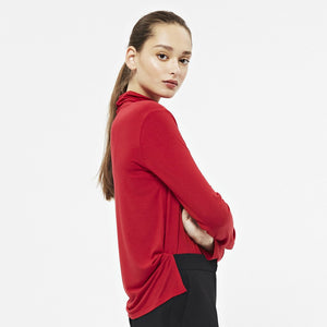 Long Sleeve Polo in Red - AVAVAV-Long Sleeve Polo in Red