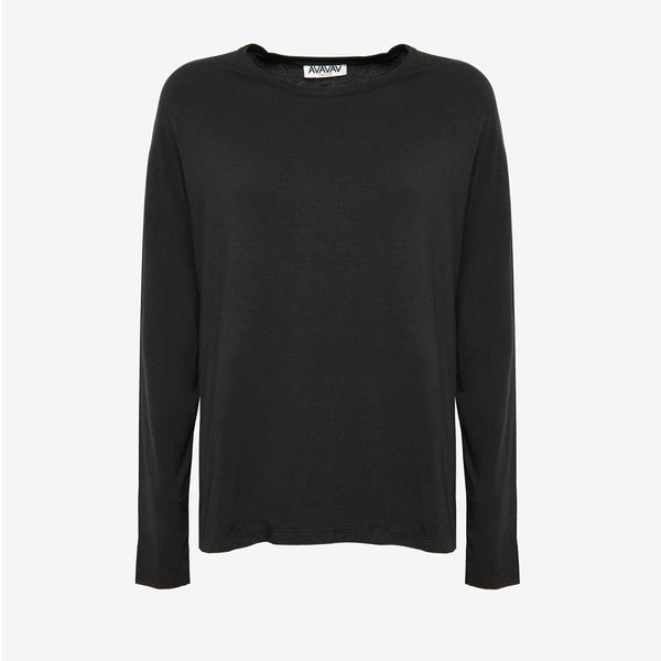Long Sleeve Tee in Black - AVAVAV-Long Sleeve Tee in Black