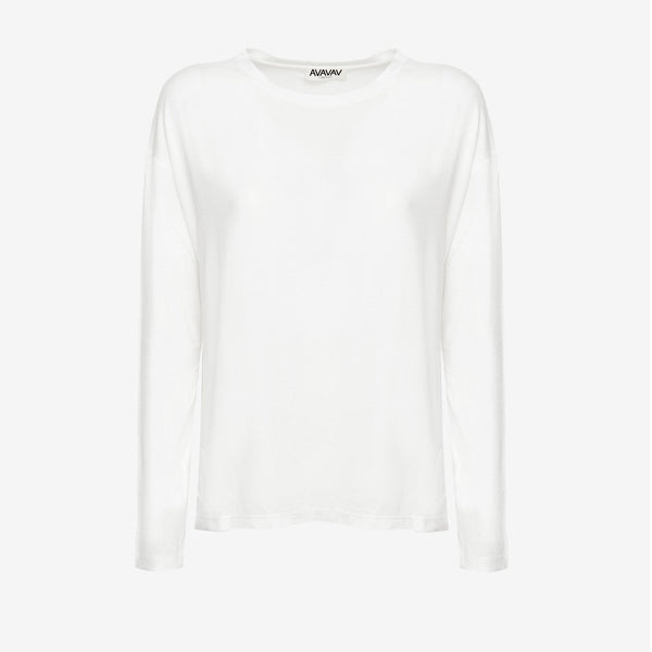 Long Sleeve Tee in Off-white - AVAVAV-Long Sleeve Tee in Off-white (2549956870228)
