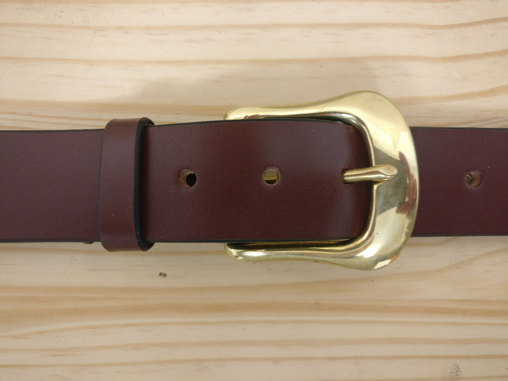 The Glyndwr English Bridle Leather Belt