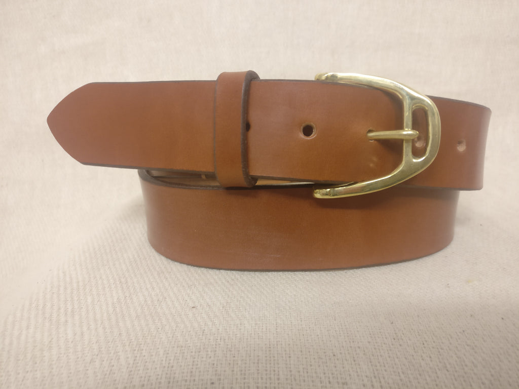 The Davies English Bridle Leather Belt