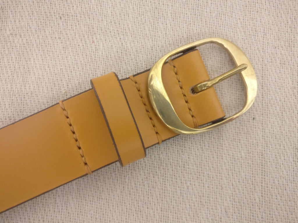 The Thade English Bridle Leather Belt