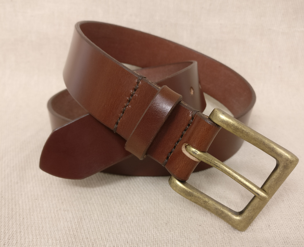 The Rustic English Bridle Leather Belt