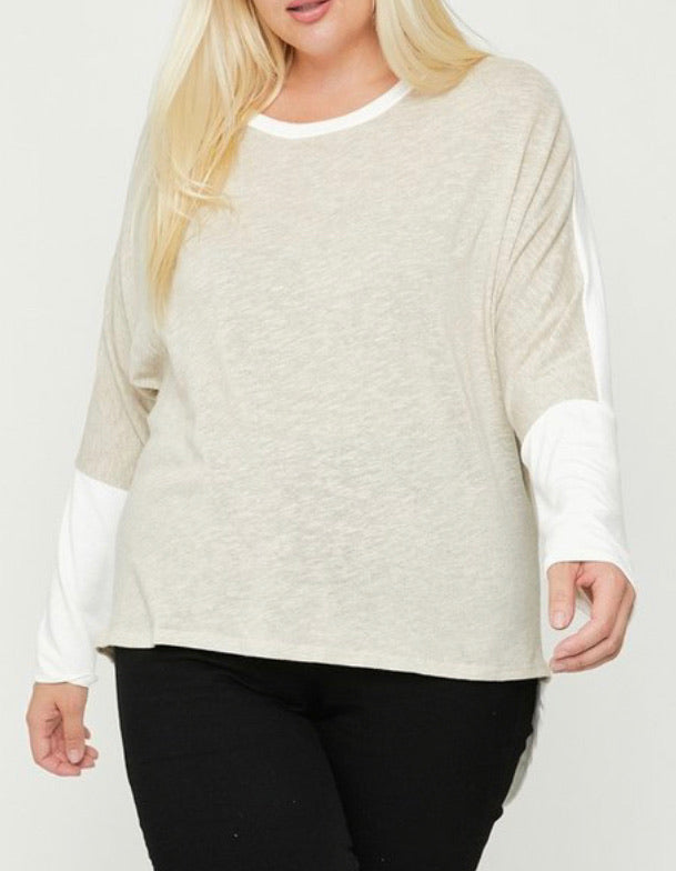 2 Tone Plus Size Top