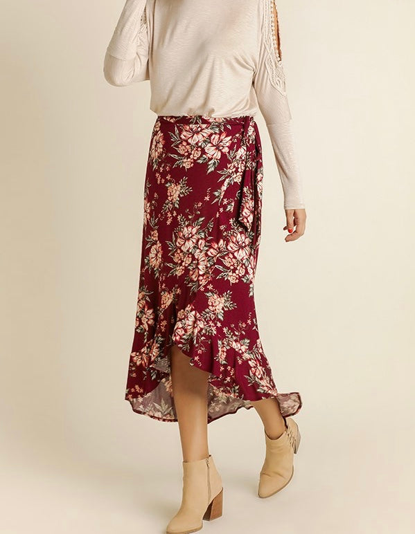 Bria Bella & Co - Floral Wrap Skirt