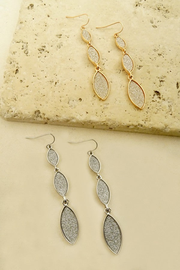 Bria Bella & Co - 3 Tier-Drop Glitter Earrings