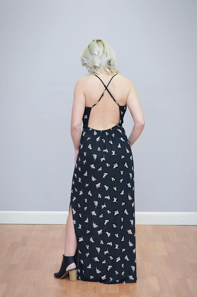 Floral Low Back Maxi
