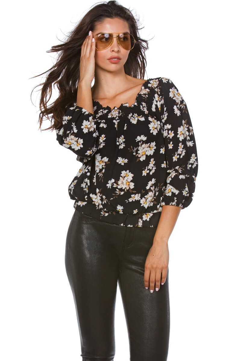 Bria Bella & Co - Floral Off-The Shoulder