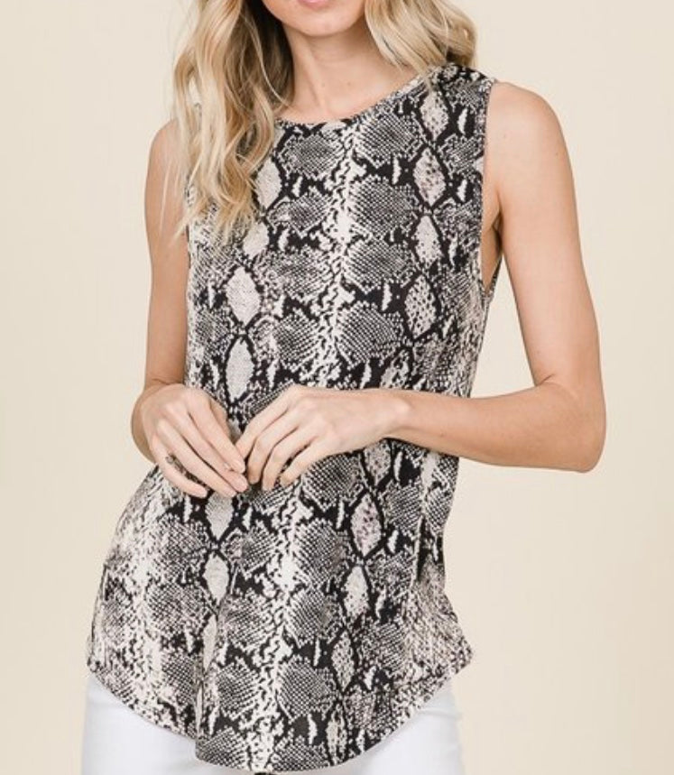Python Sleeveless Top