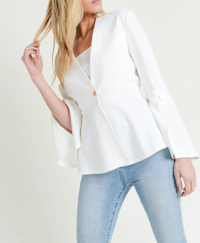 Split Sleeve Peplum Jacket