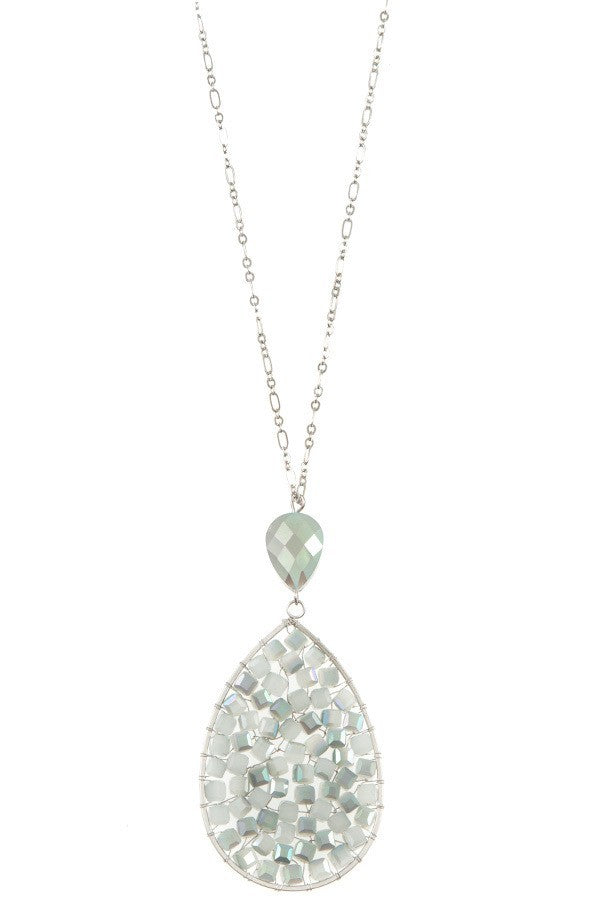 Bria Bella & Co - Beaded Teardrop Necklace
