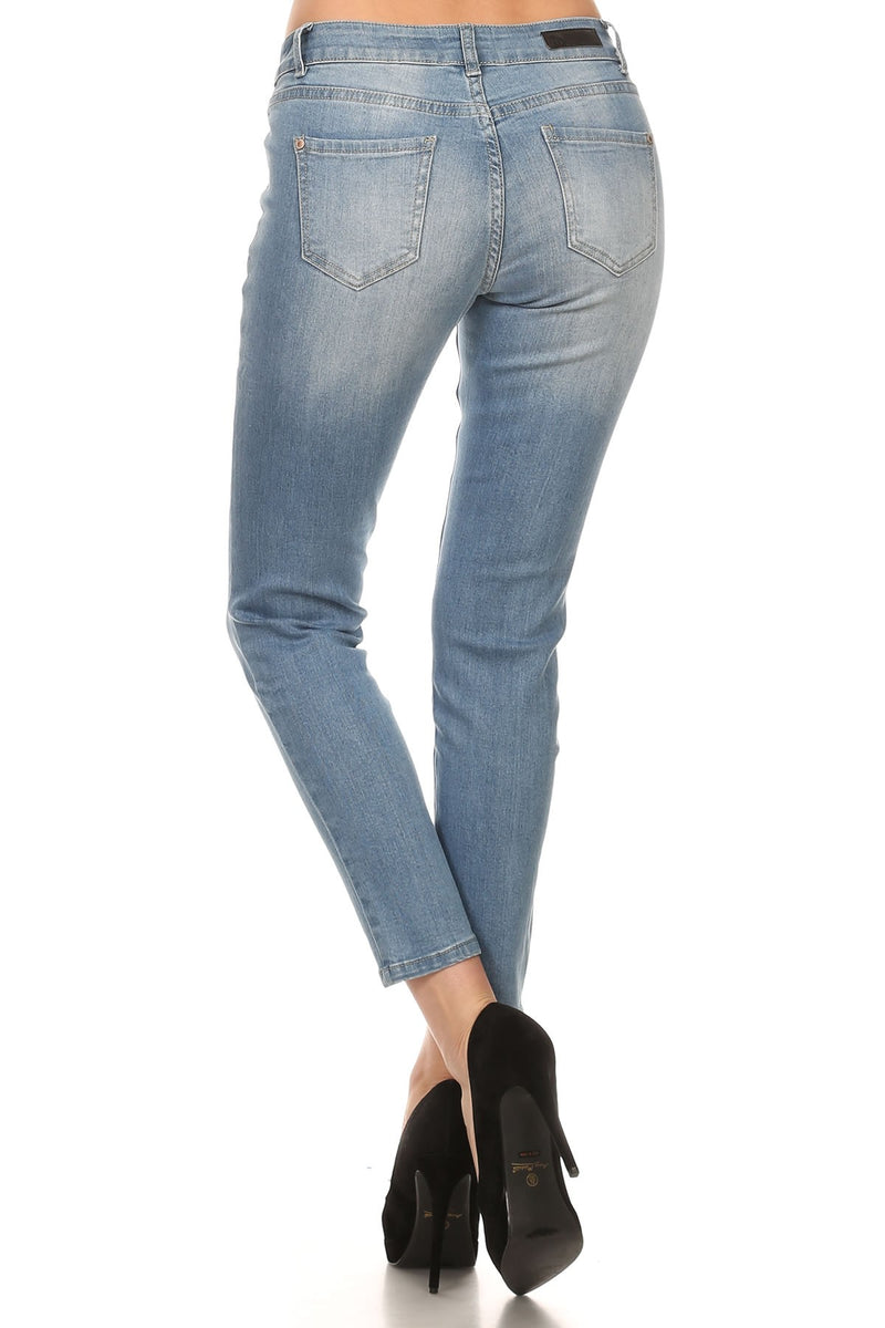Bria Bella & Co - Light Wash Skinny Denim