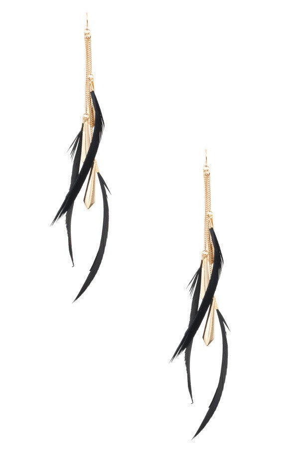 Bria Bella & Co - Flying Feathers Earrings