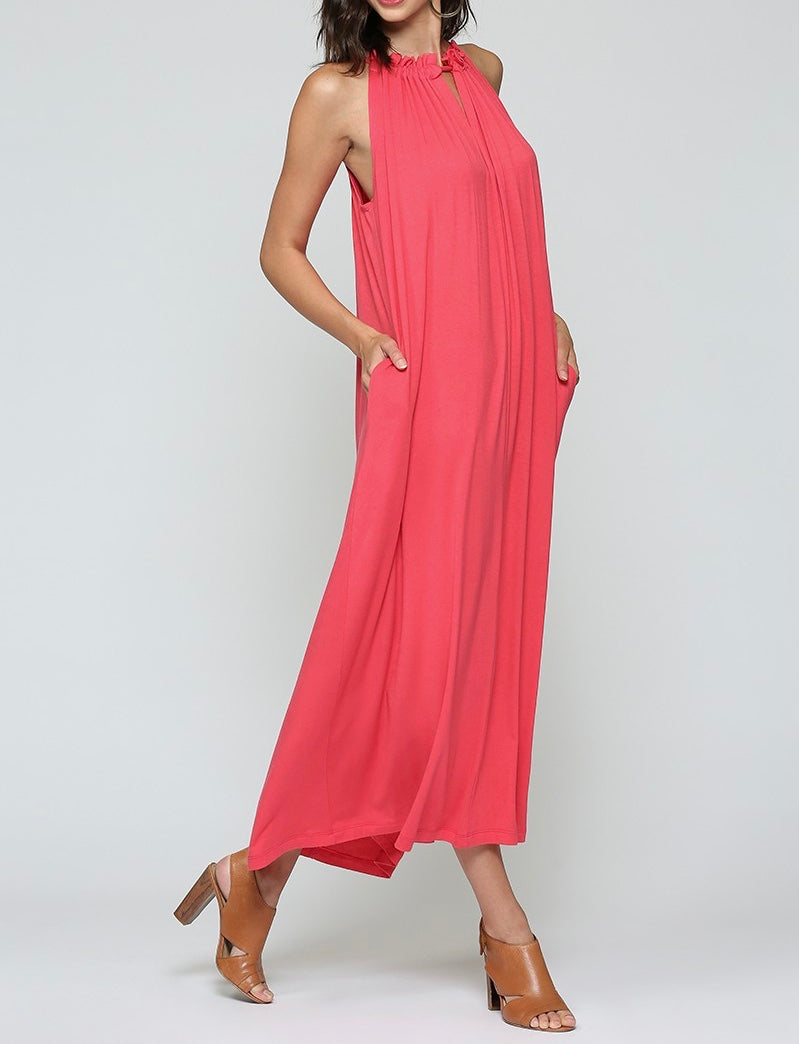 Bria Bella & Co - Coral Maxi Column Dress