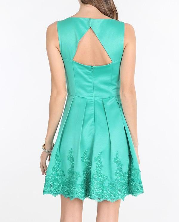 Bria Bella & Co - Embellished Fit n Flare Dress