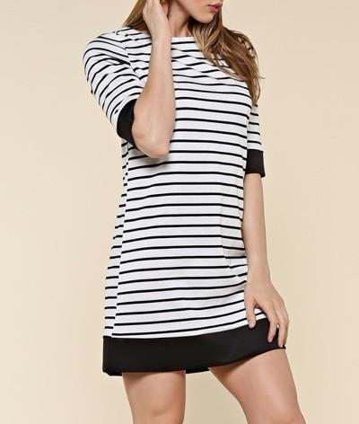 Stylish Stripes Sheath Dress
