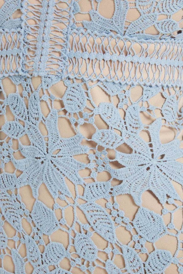 Sky Blue Lace Dress