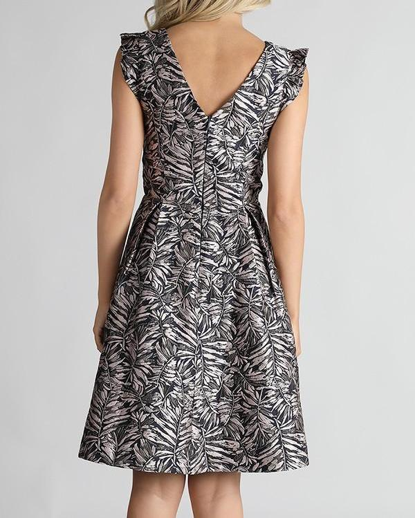 Bria Bella & Co - Silver Printed Dress