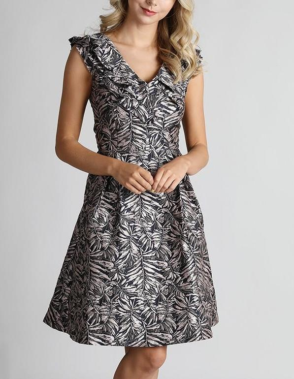 Silver Printed Dress