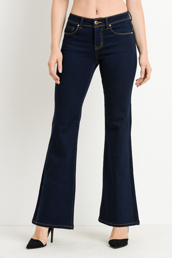 Bria Bella & Co - Dark Wash Classic Flare Denim