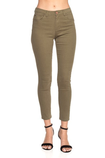 Olive Skinny Denim