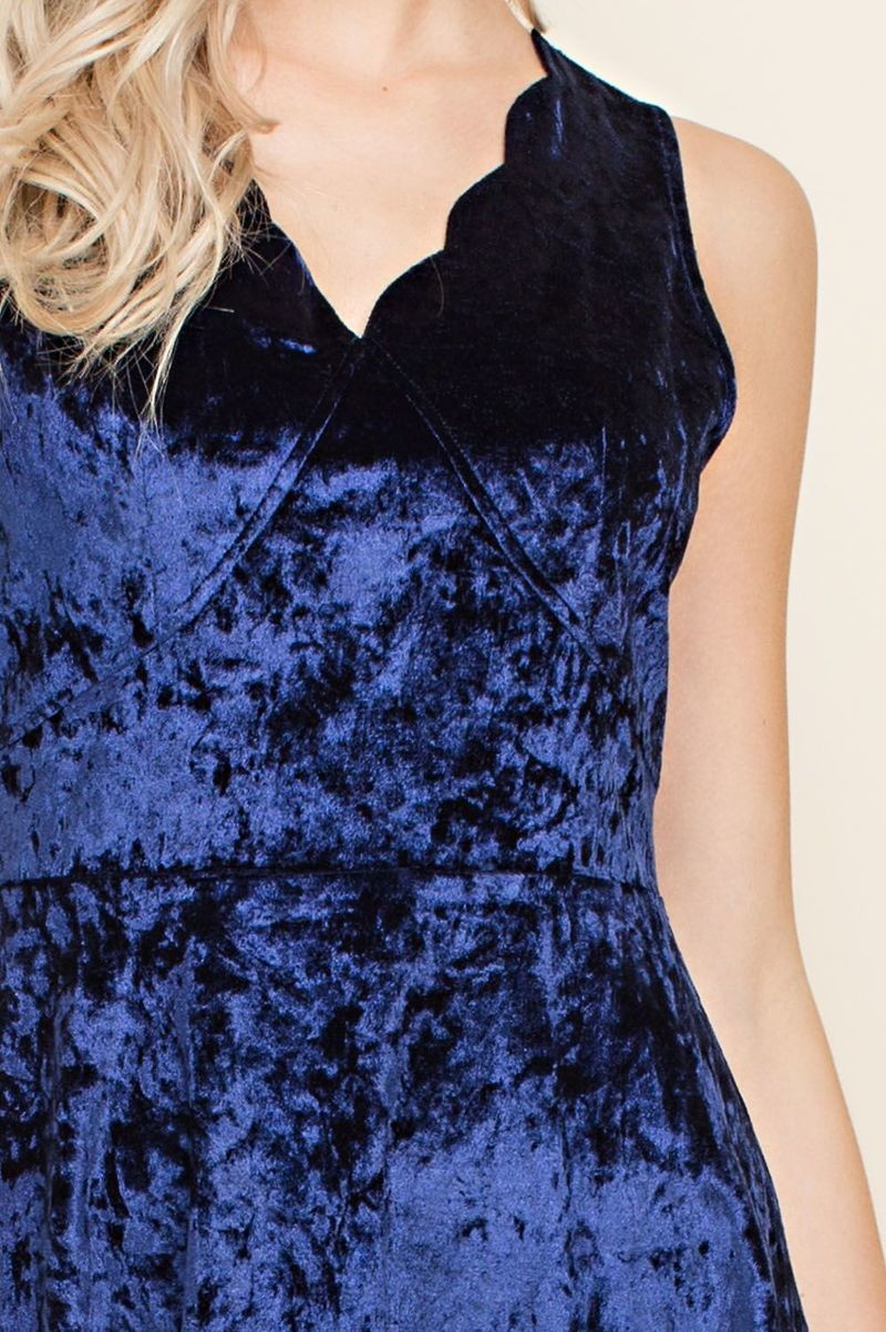 Crushed Velvet Fit n Flare - Formal