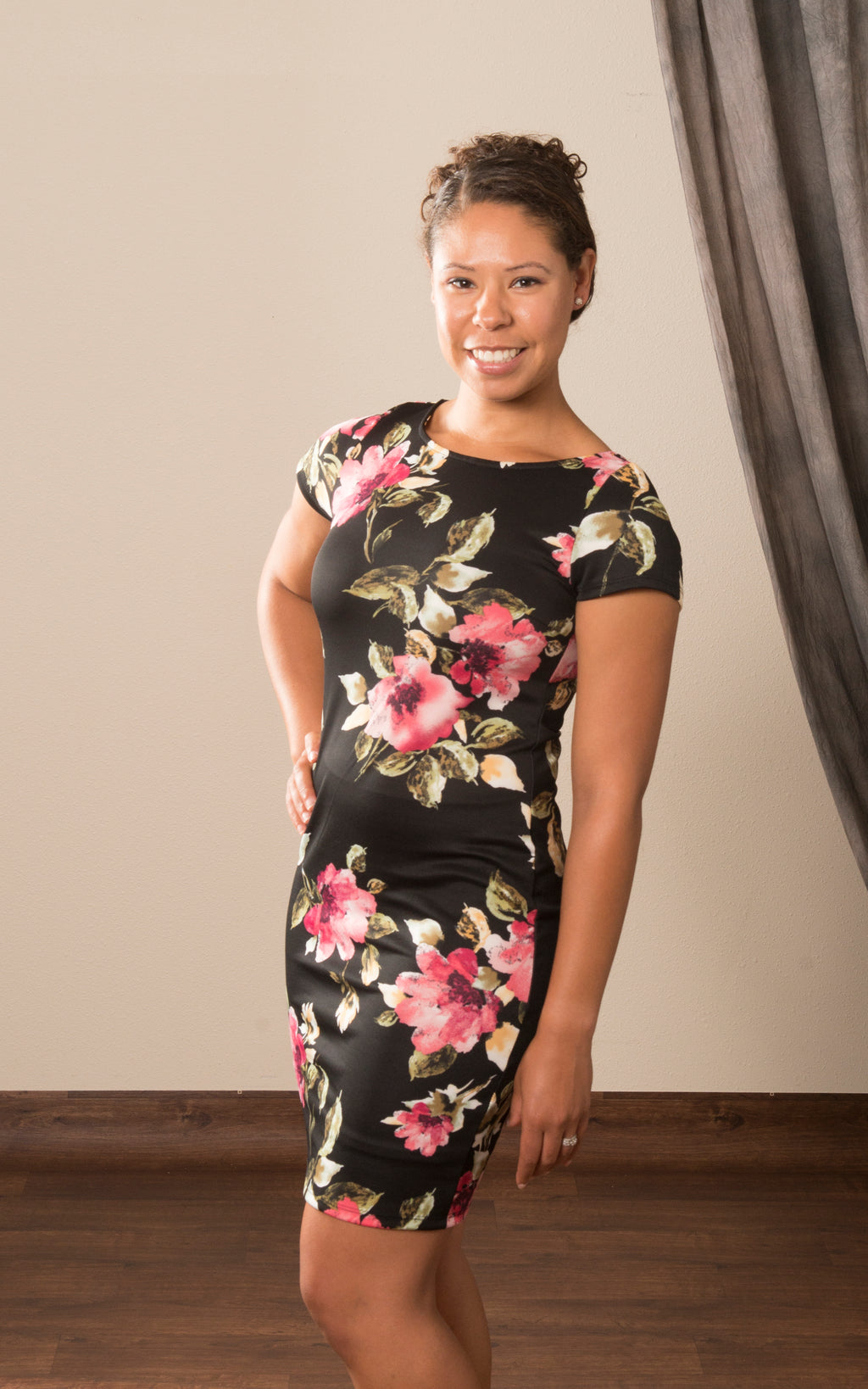 Floral Fitted Sheath Dress