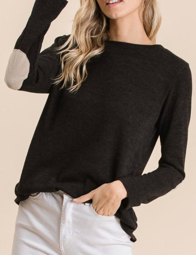 Lightweight Elbow Patch Top