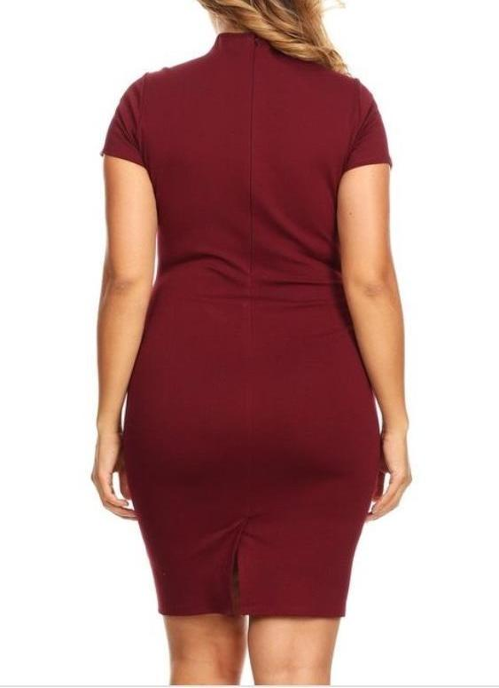 Bria Bella & Co - Collared Sheath Dress