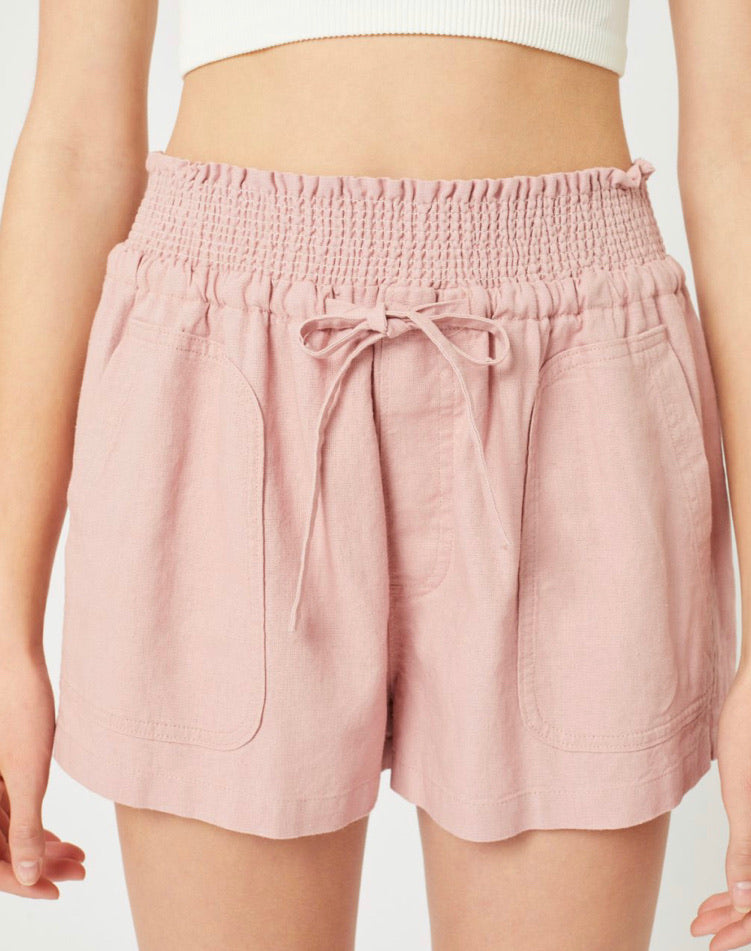 Resort-Bound Linen Shorts