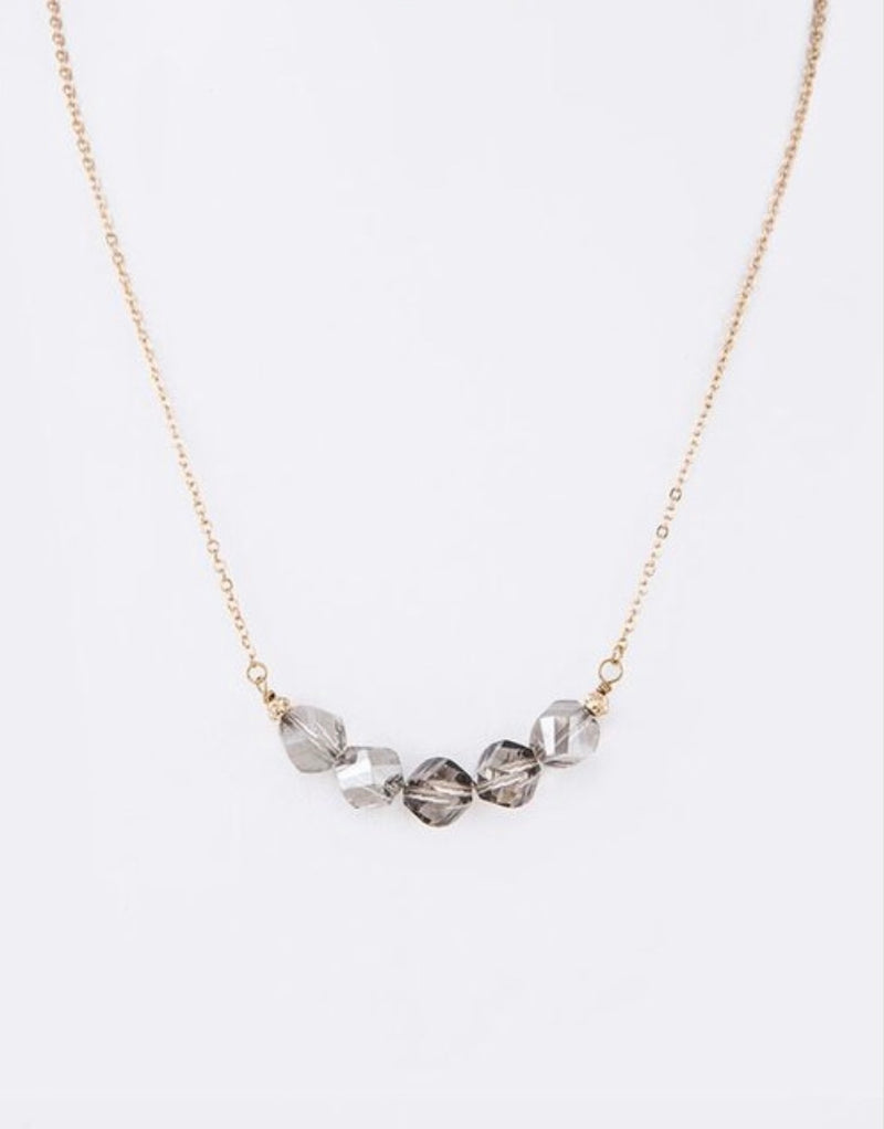 Bria Bella & Co - Black Diamond Crystal Necklace