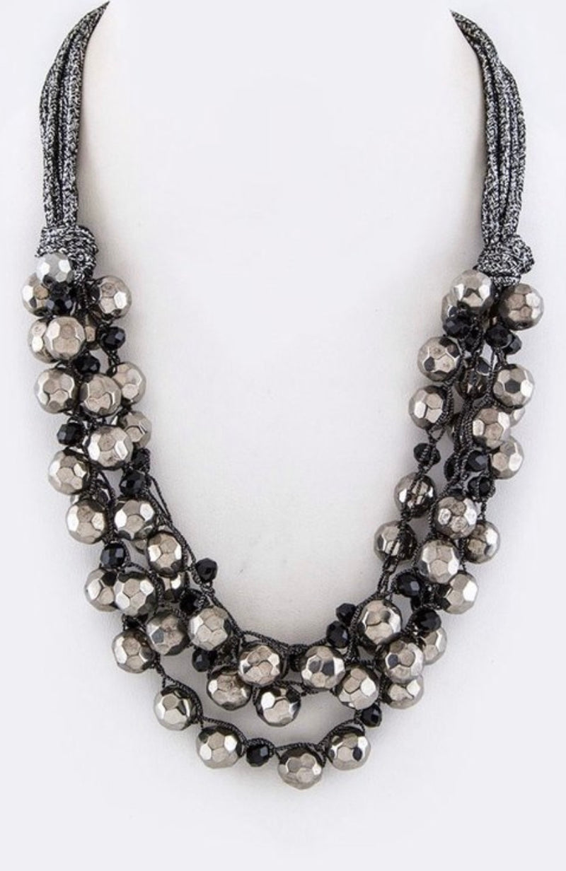 Bria Bella & Co - Chunky Beaded Layer Necklace