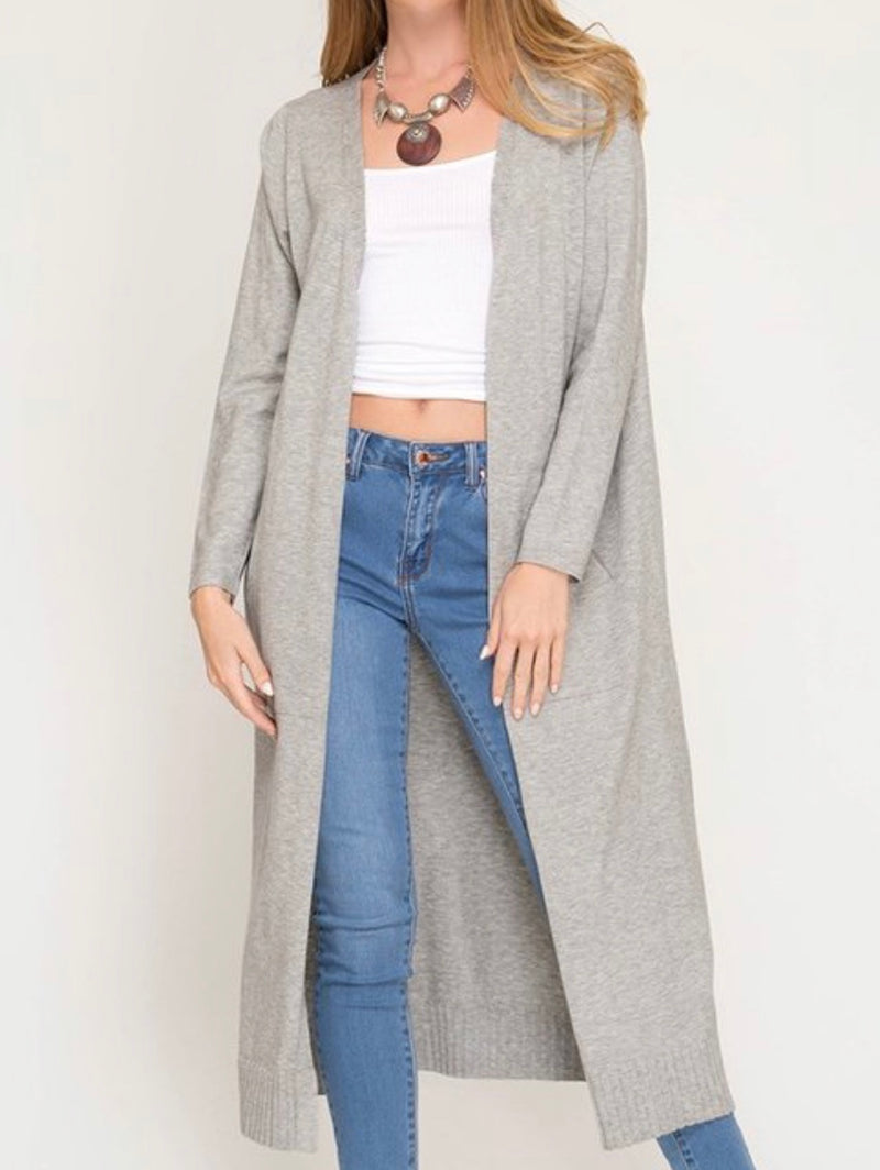 Full Length Long Sleeve Cardigan