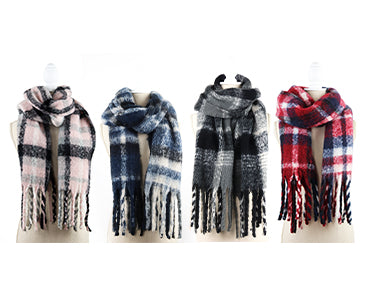 Bria Bella & Co - Plaid Blanket Scarf