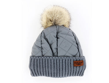 Bria Bella & Co - Quilted Pom Beanie