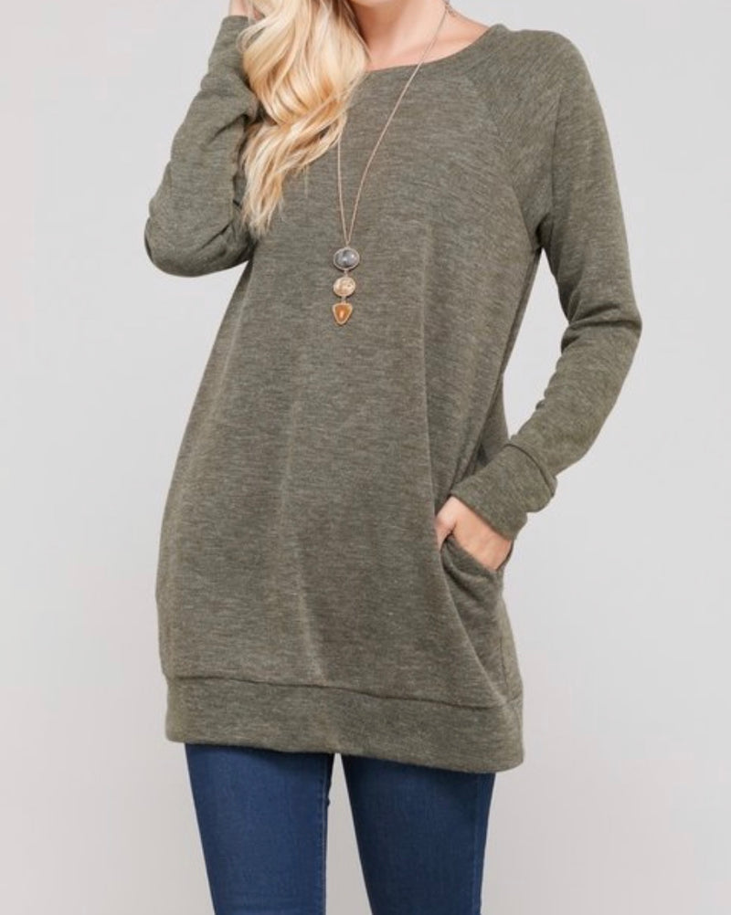 Bria Bella & Co - Brushed Olive Sweater
