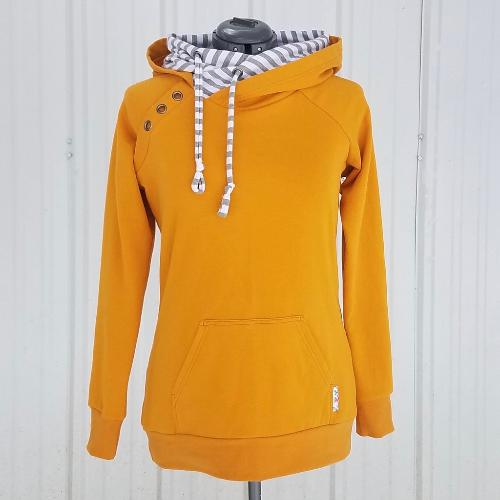 Adventure Hoodie - Mustard w/ Stripes