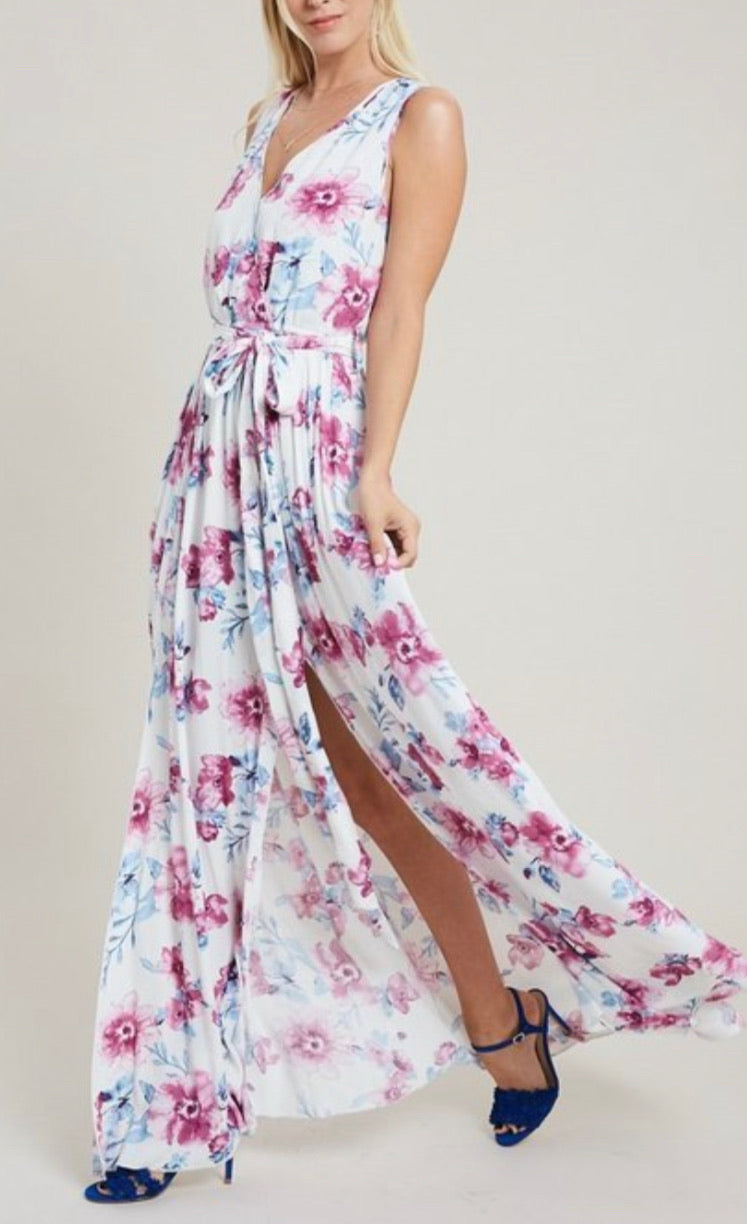Bria Bella & Co - Sleeveless M-Split Maxi Dress