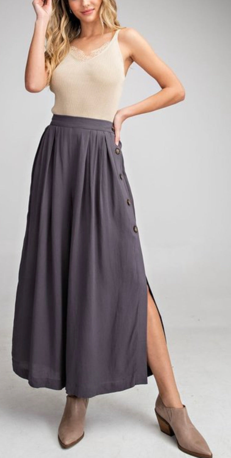 Bria Bella & Co - Linen Split-Leg Pants