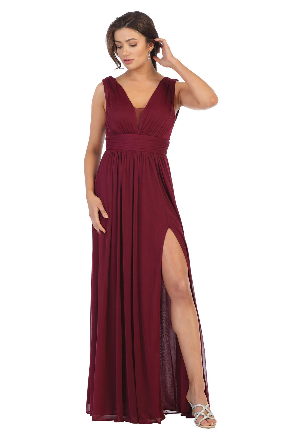 Bria Bella & Co. Burgundy Formal Gown