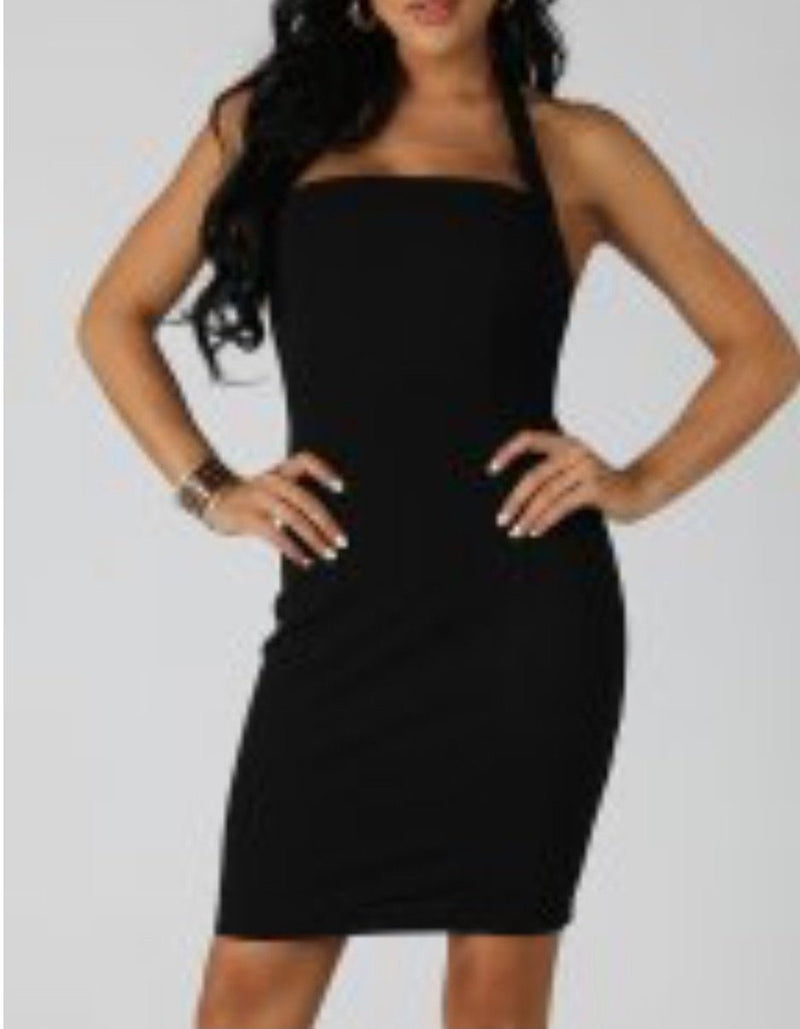 Halter Neck Tube Dress