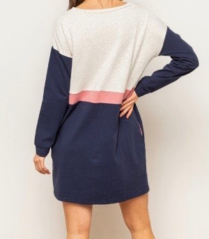 Bria Bella & Co - Color Block Sweatshirt Tunic