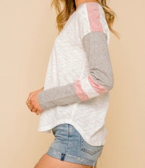 Bria Bella & Co - V-Neck Long Sleeve Reglan