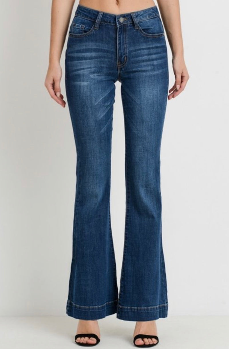 Bria Bella & Co - Mid-Rise Flared Denim
