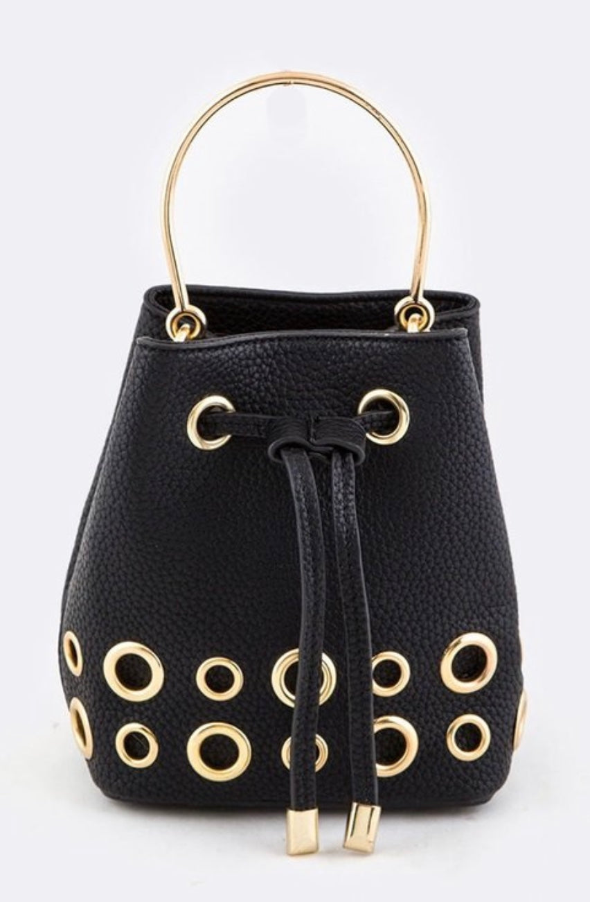 Bria Bella & Co - Ring Studded Mini Convertible Bag