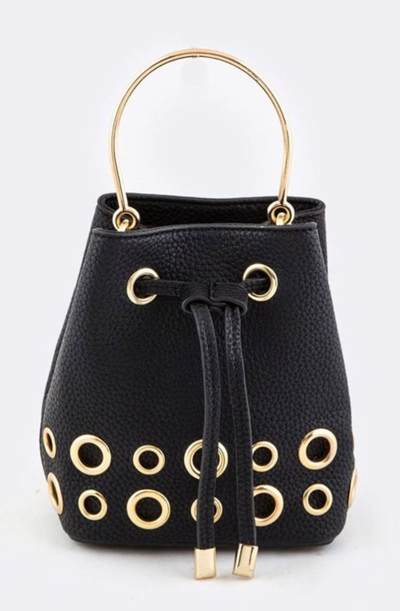 Ring Studded Mini Convertible Bag