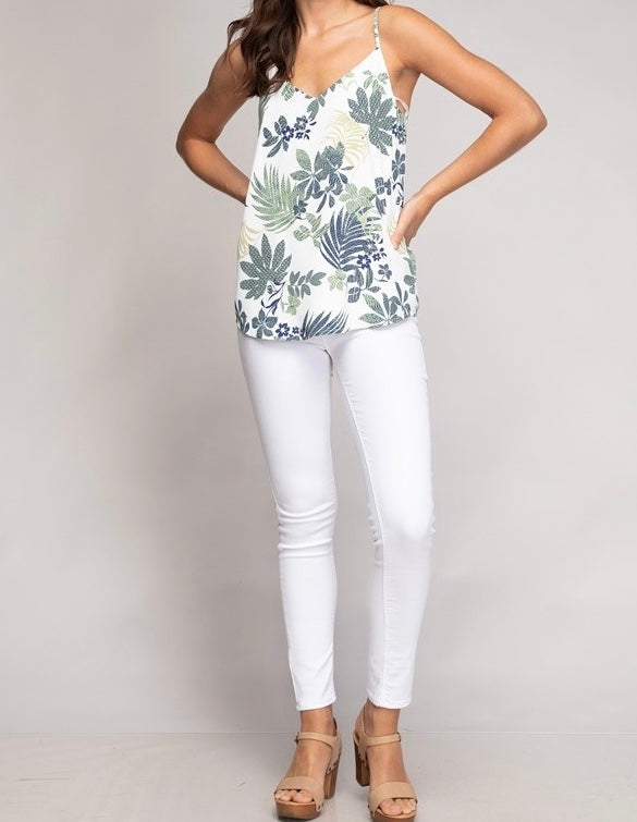Tropical Bow Back Top