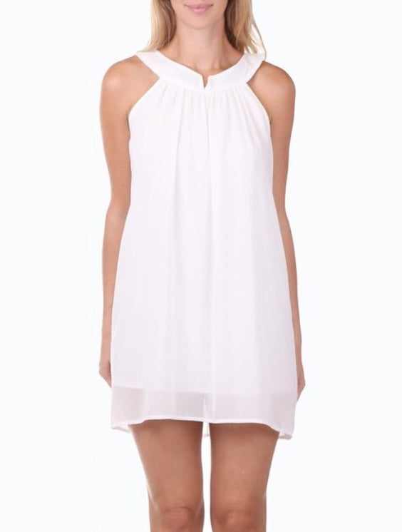 Bria Bella & Co - Halter Pleated Shift Dress