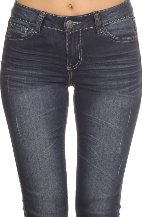 Bria Bella & Co - Dark Wash Skinny Jeans