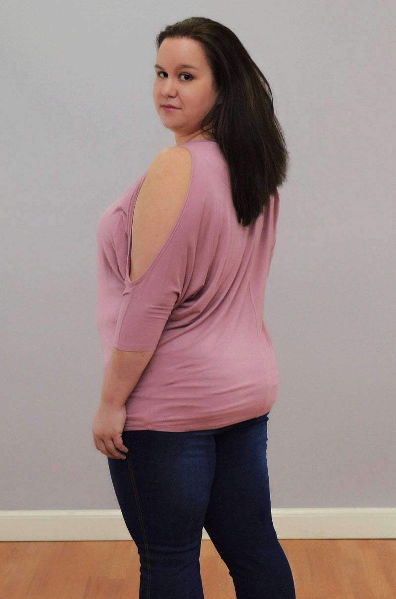 Open Shoulder Dolman Top